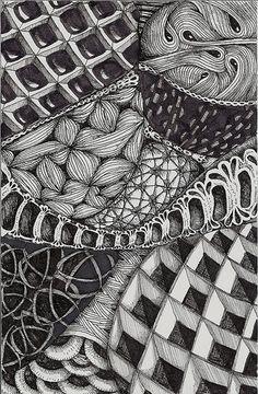 Zentangle Art: http://pinterest.com/purplecat_53/zentangle/