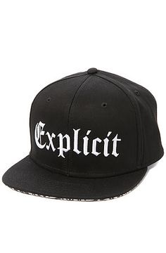 508e15b37 RockSmith The Explicit Life Snapback in Black Dope Outfits, Snapback,  Street Wear, Baseball