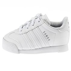 ADIDAS SAMOA INFANT S85299 White Silver Toddler Td Shoes Sneakers Baby Size 6