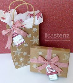 Lisa's Creative Corner: Handcrafted Holidays Blog Hop - Gift Wrapping Ideas