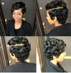 Crimped Hair: Tips For Getting A Flawless Look Dope Hairstyles, Cute Hairstyles For Short Hair, Curly Hair Styles, Natural Hair Styles, Black Hairstyles, Short Sassy Hair, Short Curls, Short Hair Cuts, Short Pixie
