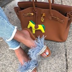 On My Way To Brunch With My Dad #happyfathersday #fathersday #fashion #style #fashionista #streetstyle #outfitoftheday #bluejeans #frayed #accessory #hermes #birkin #brown #handbag #shoe #heel #miumiu #blue #feathers #pearl #shoeporn #cool #chic #posh #stylish #glam #fun #trend #inspiration #fashiontrend