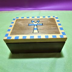 Your place to buy and sell all things handmade Egyptian Symbols, Box Storage, Wooden Ornaments, Wood Boxes, Wood Carving, Masters, Decoupage, Meditation, Decorative Boxes