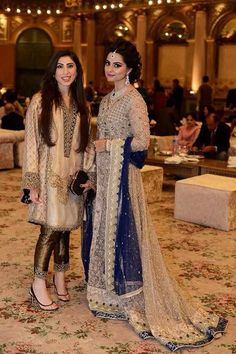 Dress Wedding Pakistani Sisters Ideas For 2019 Walima Dress, Pakistani Wedding Dresses, Pakistani Outfits, Indian Dresses, Indian Outfits, Shadi Dresses, Asian Wedding Dress, Eastern Dresses, Pakistani Couture