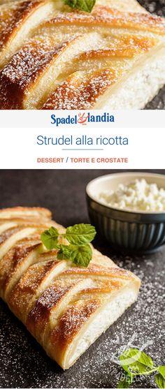 Strudel, Ricotta Dessert, Pie Co, Cake & Co, Relleno, Pain, Hot Dog Buns, Sweet Recipes, Sweet Treats