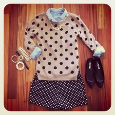 polka dot on polka dot