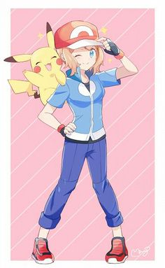 ♥ Girl... Pikachu... Pokémon... Pokémon GO!... Kawaii... Anime ♥