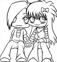 anime emo black haired girl  dibujar  Pinterest  Anime