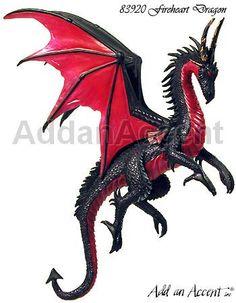 Fire Heart Dragon ornament