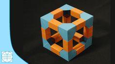 Origami Modular Cube. (Instructions) (Full HD)