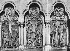 GOTHIC SCULPTOR, German Prophets 1230-35 Stone Cathedral, Bamberg