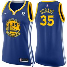 Golden State Warriors Nike Dri-FIT Women s Kevin Durant  35 Swingman Icon  Jersey - 1fc0f2253