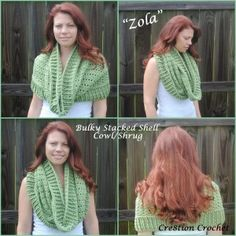 bulky stacked shell cowl and shrug- free crochet pattern