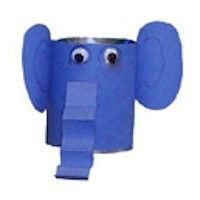 Recyled Elephant Pencil Holder Craft is a good project for young recyclers to show how to repurpose discarded items. www.freekidscrafts.com