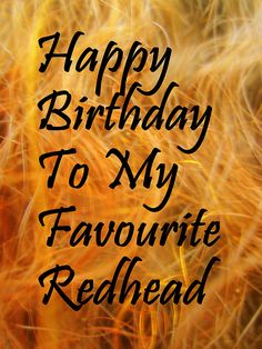 Image Result For Happy Birthday Redhead