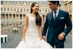 #trash the #dress #paris palais royal in the rain