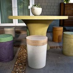 Concrete stool from 5 gallon bucket