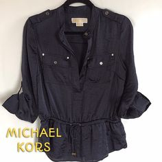 MK Blouse Price Firm unless bundled.  Thanks!  Great condition! Michael Kors Tops Blouses