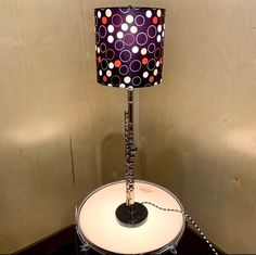 Love the lamp and the table but i think i would change the shade. Flute Shirts, Marching Band Shirts, Drummer Gifts, Perfect Music, Music Items, Drum Table, Music Decor, Music Gifts, Music Lovers