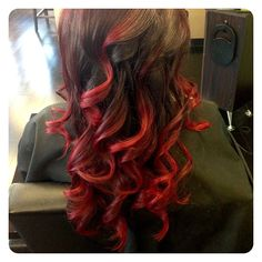 Ombre can be done with red too! #rombre