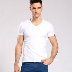 Knitted Fabric Short Sleeve T-Shirt For Men. #Mentshirt #ShopOnline #MehdiGinger