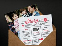 family newsletter // That is a rather adorable idea.