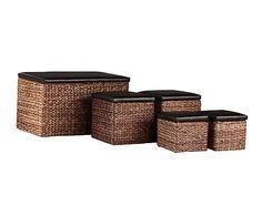 Set de 5 baúles de ratán Hermes - marrón