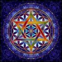 Flower of Life sticker hexagram Star of David Sacred Geometry Mandala Mandala Art, Sacred Symbols, Sacred Art, Geometry Art, Sacred Geometry, Jewish Art, Star Of David, Visionary Art, Flower Of Life