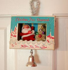 Vintage Ornament Box Diorama By georgiapeachez Gebely Gebely Wang: This photo was taken on November Old Christmas, Old Fashioned Christmas, Vintage Christmas Ornaments, Retro Christmas, Christmas Items, Christmas Holidays, Christmas Decorations, Christmas Vignette, Christmas Mantles