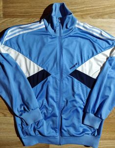 Activewear Creative Vintage Adidas Track Jacket In Blue Size D4 S Small Tracksuit Top Training