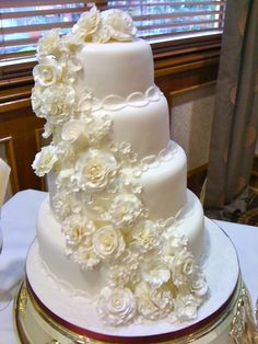 all white.... By jasellevonne on CakeCentral.com