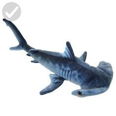 "Blue Printed Hammerhead Shark Plush Toy 24"" L - Plush cuteness (*Amazon Partner-Link)"