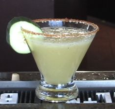 Cucumber Martini with tequila-I have made this a few times-it is worth the wait of pressing your own cuc juice