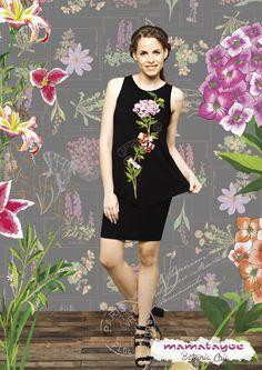 By Mamatayoe- Camiseta sin mangas con estampado floral| Sleeveless t-shirt with floral print.| Chemise sans manches avec imprimé floral| Camicia senza maniche con stampa floreale.