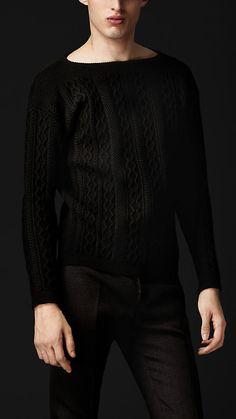 Aran Knit Wool Sweater