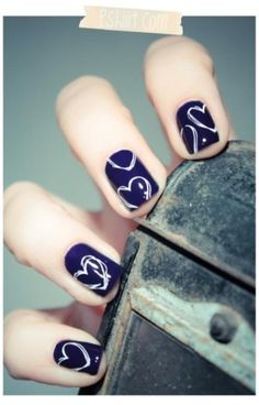 Cute nail idea with a Silver Sharpie.