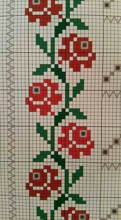 """Punto en cruz """"This post was discovered by neş"""", """"Discover thousands of images about"""" Cross Stitch Bookmarks, Cross Stitch Borders, Cross Stitch Rose, Simple Cross Stitch, Cross Stitch Flowers, Cross Stitch Designs, Cross Stitching, Cross Stitch Embroidery, Embroidery Patterns"""