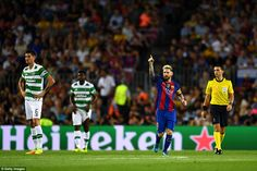 Ballon d'Or holder Messi acknowledges his second goal, which came shortly after…