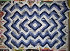 Diamond Pond Afghan    By: Elizabeth Ham for Crochet a Trunk-Full O' Fun    This Diamond Pond Afghan is a beautiful diamond centered ripple afghan. This blanket is a great project to make for yourself or someone you know. Use worsted weight yarn and a size I crochet hook to complete this crochet afghan pattern.