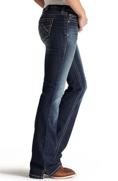 Ariat® Womens Mid Rise Boot Cut Real Riding Jeans - Spitfire - Ariat® Womens Mid Rise Boot Cut Real Riding Jeans - Spitfire