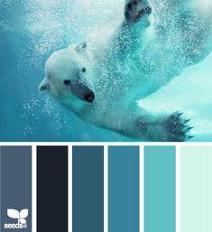'polar palette' via Design Seeds Colour Pallete, Colour Schemes, Color Combos, Color Patterns, Color Palettes, Wall Colors, House Colors, Paint Colors, Coordination Des Couleurs
