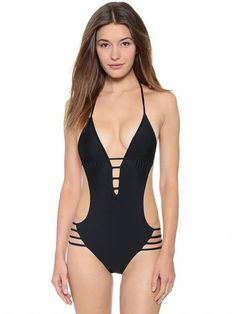 9631be670d2 5 Incredibly Chic Black Swimsuits From the Pages of Grazia