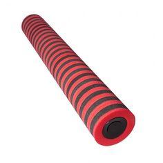 Pilates-rulla 14 x 94 cm, punamusta (foam roller)