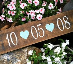 SAVE THE DATE Sign 5 1/2 x 23 Rustic Wedding Signs via Etsy