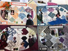 Downton Abbey fabrics at Huntsville Sew and Vac. com . Sneak Peek! Coming in November, We'll have the 39 piece collection from Andover fabrics with fabrics to be used for clothing and quilts for Season 5 in 2015.