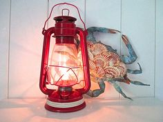 Nautical Lantern repurposed as Electric Lamp by searchnrescue2