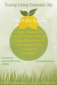 Looking for a way to help you loose weight? Young Living Oils can help. Email me for more details: edingse@gmail.com or order from young living at http://wwwyoungliving.org and use my number 1597362 to receive a #FREE reference guide to Essential Oils