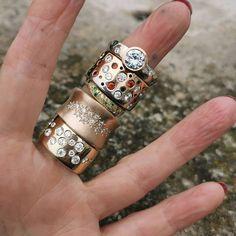 Custom Jewelry, Diy Jewelry, Gemstone Jewelry, Jewelry Rings, Jewelry Watches, Handmade Jewelry, Jewellery, Wide Band Diamond Rings, Fashion Rings