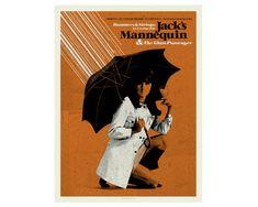 MILIEU du siècle moderne parapluie Mannequin par CONCEPCIONSTUDIOS