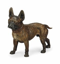 An Austrian cold-painted bronze model of a French Bulldog